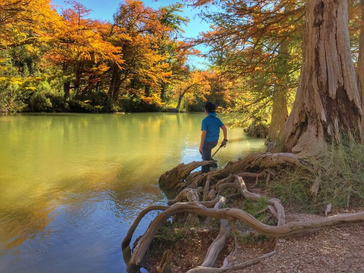 43 Golden Moments Outdoors Fishing River Riverside Sky And Clouds Trees Texas Nature Boy Heartbeat Moments