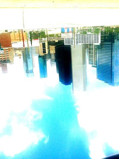 Lovely City Upside Down Photography Travel Buildings & Sky Clouds And Sky View