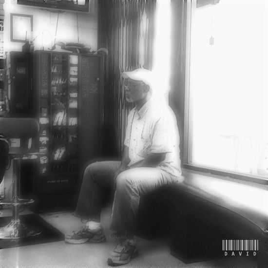 Waiting In Soft Light Candid Black And White Haircut Barber Shop