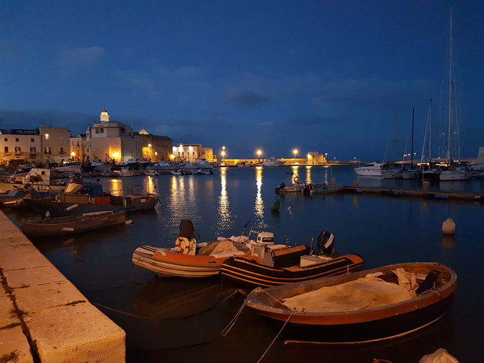 Trani Tranibynight S7flat Yellaspuglia Italy Visititalia Apuglia No Filter, No Edit, Just Photography Night No People Travel Destinations Outdoors Water History City