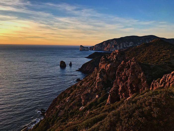 Trekking Sardegna Trekking EyeEm EyeEm Best Shots Sardegnaofficial Sea Sardinia Sky Water Sea Land Beach Beauty In Nature Scenics - Nature Sunset Nature Tranquil Scene Horizon Over Water Outdoors