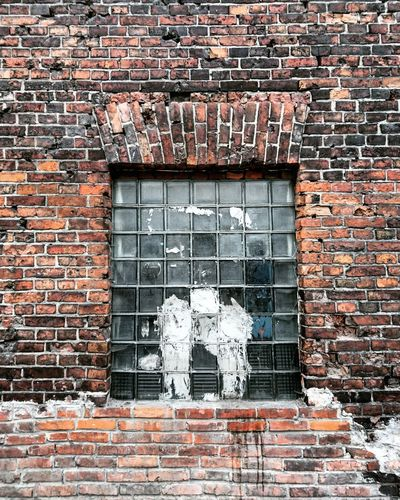 Architecture Brick Brick Wall Broken Building Exterior Built Structure City City Life Cityscape Cityscapes Close-up Closed Day Deterioration Fabric Minimal Minimalism No People Old Outdoors Red Sad Wall Wall - Building Feature