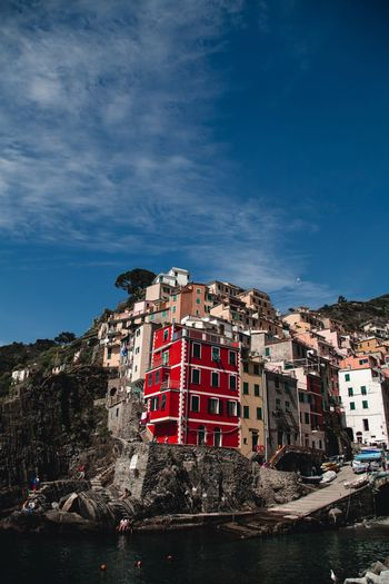 Cinque Terre Architecture Building Exterior Built Structure Building Sky Nature City Water No People Red Residential District Outdoors Travel Destinations Travel