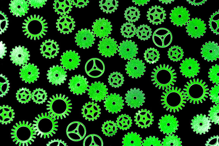 gears Abundance Backgrounds Beauty In Nature Biology Black Background Close-up Education Full Frame Gear Green Color Growth Indoors  Large Group Of Objects Magnification Microbiology Nature No People Plant Research Science Steampunk Studio Shot
