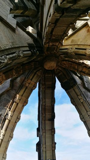 Architecture Built Structure Low Angle View Architectural Column Brick Stone Stone Material Stone Work Sky Sky And Clouds William Wallace Monument Braveheart Beautiful Scotland