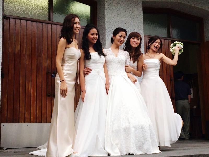 Wedding Day Beautiful Bride ♥♥ Bridesmaids