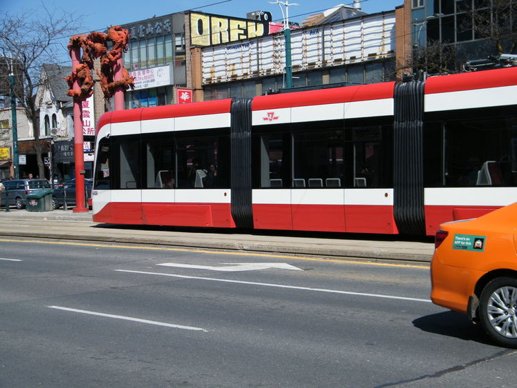 Also love orange and red! Street Colors City City Street Mode Of Transportation Public Transportation Rail Transportation Sign Transportation Travel