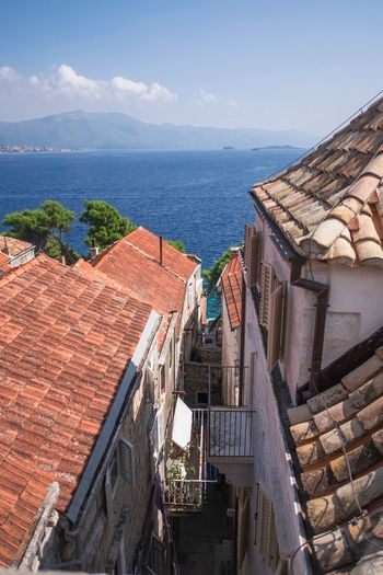 Architecture Beauty In Nature Blue Built Structure Cloud Cloud - Sky Croatia Day Horizon Over Water Korculaoldtown Korčula Nature No People Outdoors Residential District Residential Structure Roof Scenics Sea Sky Town TOWNSCAPE Tranquil Scene Tranquility Water