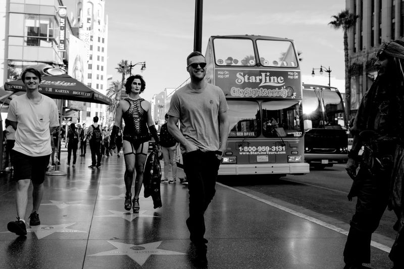 ⭐️Hollywood ⭐️ Real People City Street Photography EyeEm Gallery EyeEm Best Shots Fujifilm_xseries Los Angeles, California Hollywood Monochrome Photography Black And White