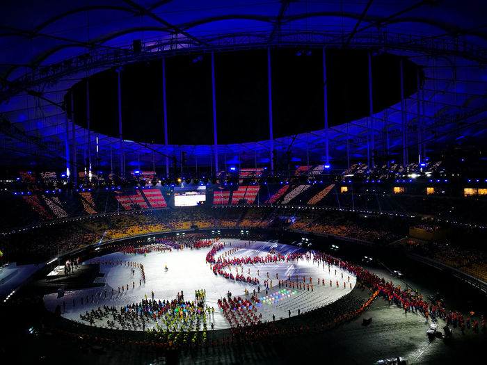 Kuala Lumpur 2017 9th Paralympic ASEAN Games Opening Ceremony. Night Illuminated Architecture Stadium HuaweiP9plus Huawei P9 Leica Huawei Photography Huaweimobile Huaweishot Huaweiphotography Huawei Shots Kl2017 KL2017ParaSEAGames