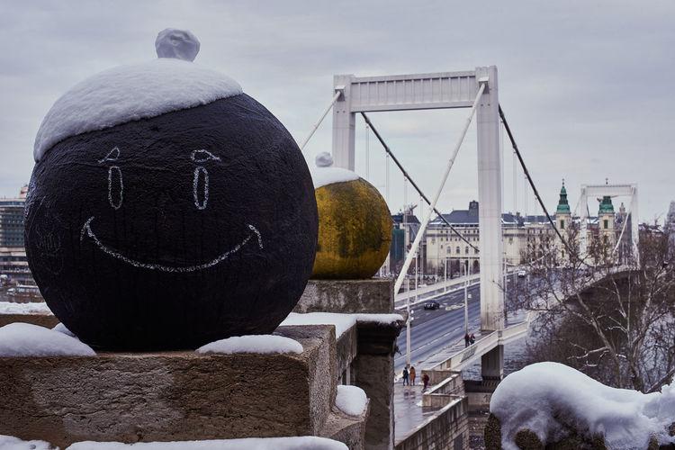 Sculpture in winter