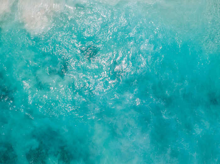 High angle view of bubbles in swimming pool