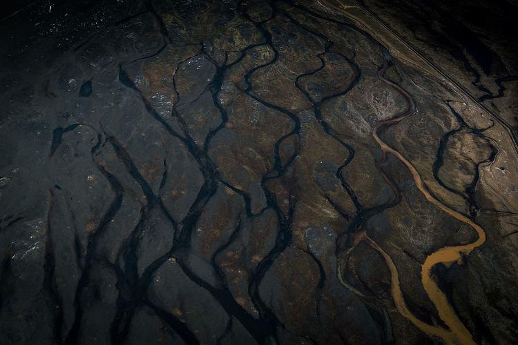 Full frame shot of cracked landscape