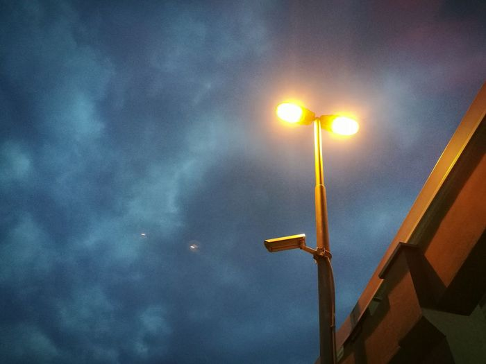 Low Angle View Sky No People Cloud - Sky Illuminated Outdoors Renewable Energy Night Galaxy Lamp Lamplight Street Lights Street Lamp Collection Street Lamp Post Street Life Architecture Nature Beauty In Nature Astronomy Star - Space