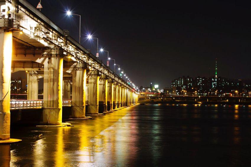 Korea Banpo Bridge Seoul Korean Photographer Korea Photos Nightphotography Han River Canon Night View City River No People