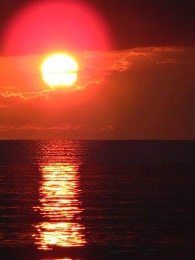Lake Ontario New York. Sunset Scenics Sun Beauty In Nature Water Reflection Sky Tranquility Horizon Over Water Tranquil Scene Beauty Outdoors Lakeontario  EyeEmNewHere