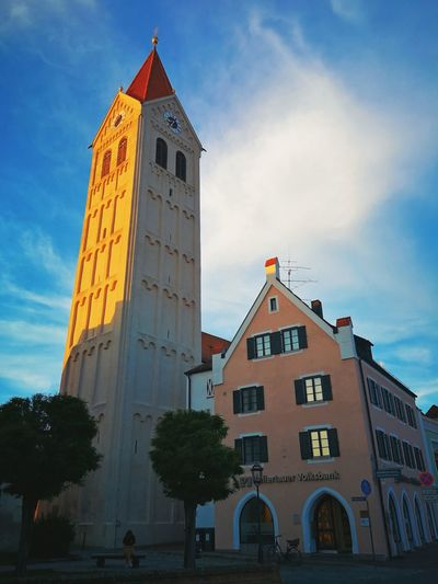 Evening in Moosburg Bavaria Moosburg Bayern Kastulus Politics And Government Place Of Worship Business Finance And Industry History Bell Tower - Tower Church Bell Christianity Bell Tower Cathedral Catholicism Roman Numeral