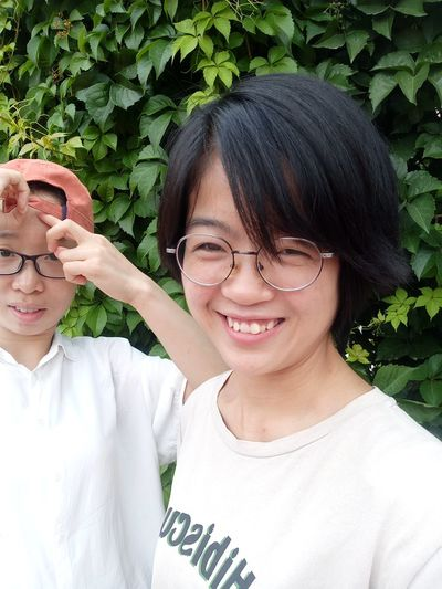EyeEm Selects Adult Human Body Part Two People Eyeglasses  Women People Smiling Human Face Adults Only Headshot Only Women Day Togetherness Young Women Student Portrait University Student Young Adult Outdoors Scientific Experiment