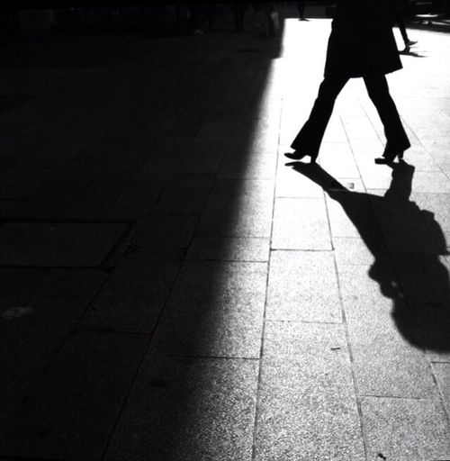 she Women Around The World Low Section Shadow Real People One Person Walking Lifestyles Human Leg Leisure Activity Outdoors Day Human Body Part EyeEmNewHere Blackandwhite Monochrome Silhouette Light And Shadow Streetphotography