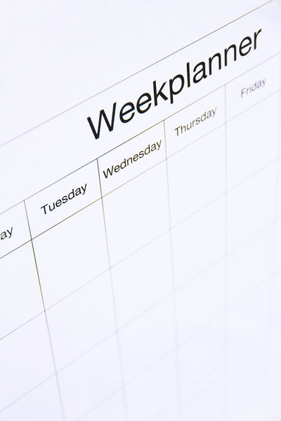 week planner board White Board Write Calendar Close-up Day Indoors  No People Paper Reminder Text Week Planner Board White Background