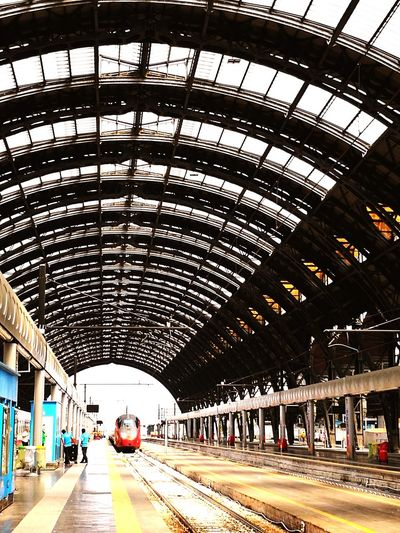 Italy Community City Subway Train Railroad Station Platform Modern Railroad Station Public Transportation Arch Architecture Built Structure Passenger Train Train Railway Station Platform Railroad Platform Train Track Steam Train Railway Station Rail Transportation Train - Vehicle Metro Train