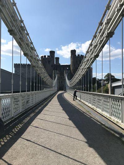 Castle foot bridge Built Structure Architecture Sky Transportation Building Exterior Bridge EyeEmNewHere