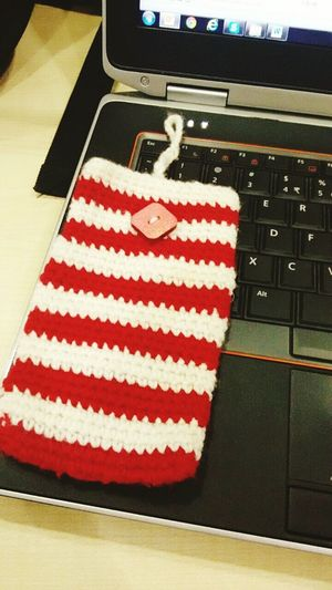 Happy Winter Forsale Mobile Pouch Cover Case Yarn Wool Crochet