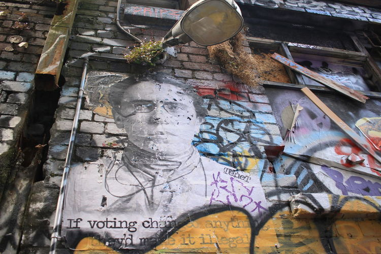 Brick Wall Colour Of Life Day Graffiti Wall Light Street Lamp No People Outdoors Textured  Hozier Lane Melbourne