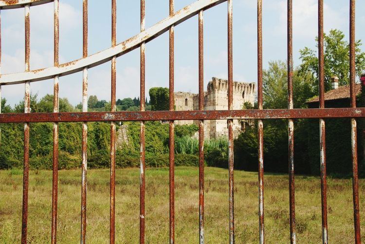 Metal No People Day Sky Outdoors Built Structure Architecture Tree Nature Castle Italy Medieval Grass Locked