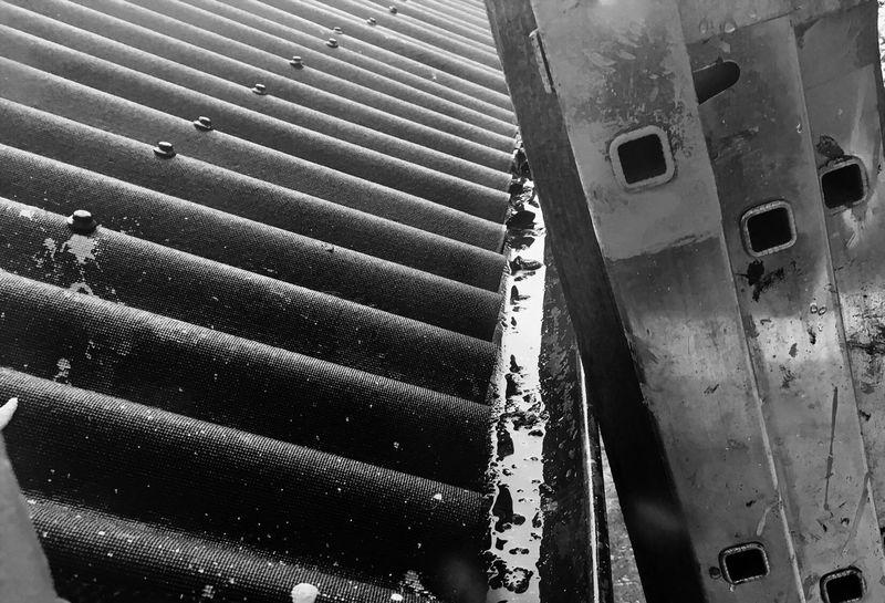 No People Built Structure Corrugated Iron Day Outdoors Close-up Depression Blackandwhite Rainy Days Rain