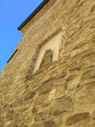 La Madonna In The Wall Medieval Natural Colours Stone Wall Light Sunlight