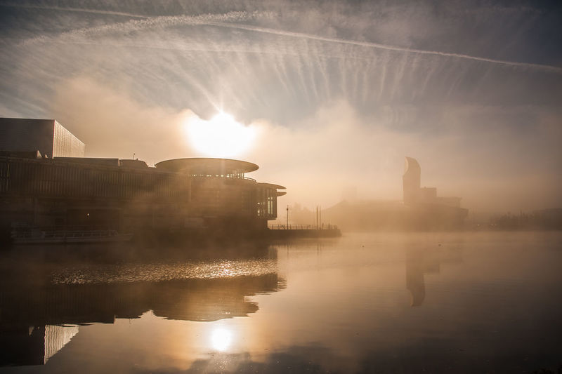 #urbanana: The Urban Playground BBC Gardener's World Show 2017 Salford Quays Architecture Building Exterior Fog Media City Salford Nature Outdoors River Sky Water Waterfront