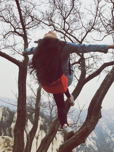 爬树 爬山 Tree Plant Real People Nature Branch One Person Leisure Activity #FREIHEITBERLIN