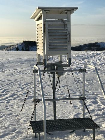 Weather station Weather Station Water Sea Sky Nature Land Beach Day No People Sunlight Snow