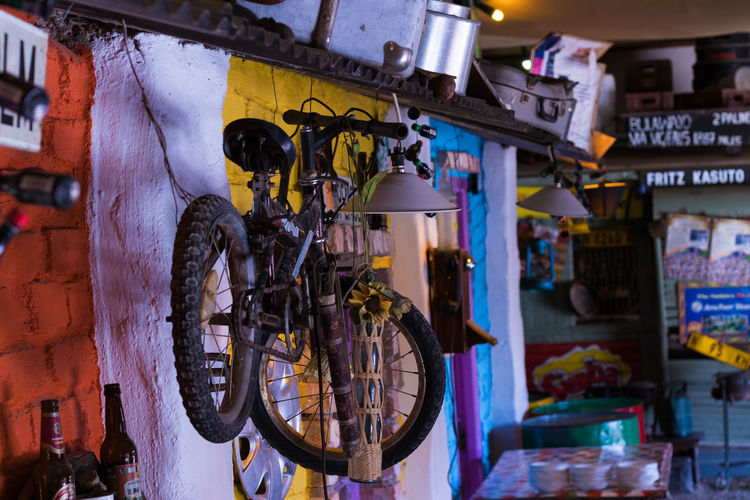 Bicycles in market for sale