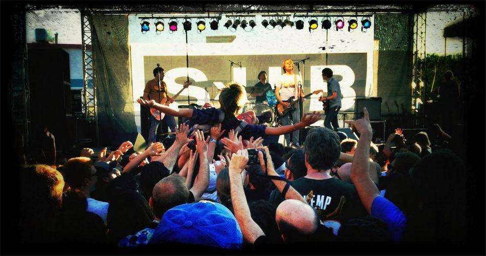 Crowd Surfing with Mudhoney Seattle SubPop Silver Jubilee WeAreJuxt.com Crowd Surfing