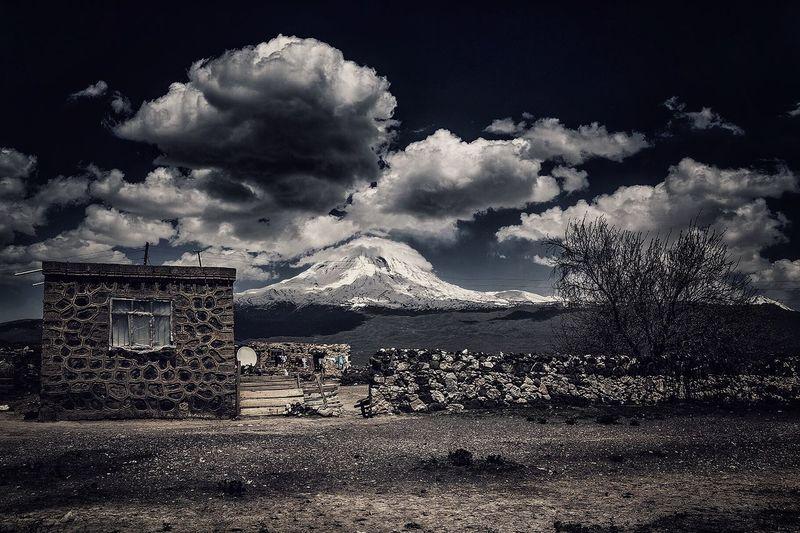 a small village next to Mount Ararat Ararat  Ararat Mountain Turkey Village House Home Sky Clouds And Sky Clouds Outdoors Countryside Türkiye Turkish Doğubeyazıt Dogubeyazit