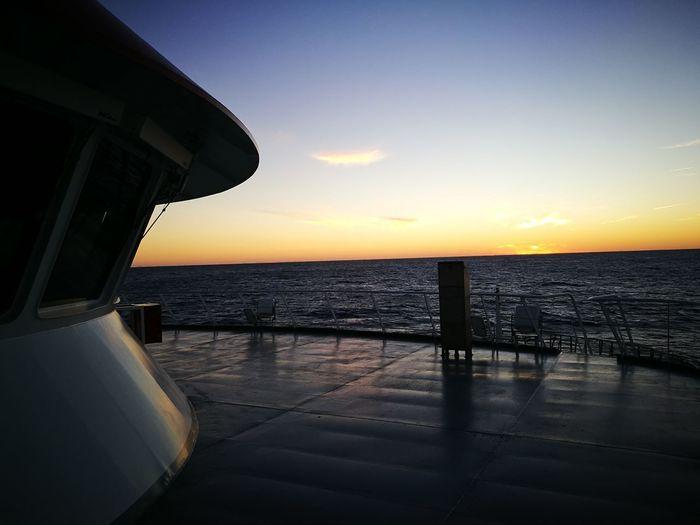 Sunset No People Seamen Outdoors off shore vessel