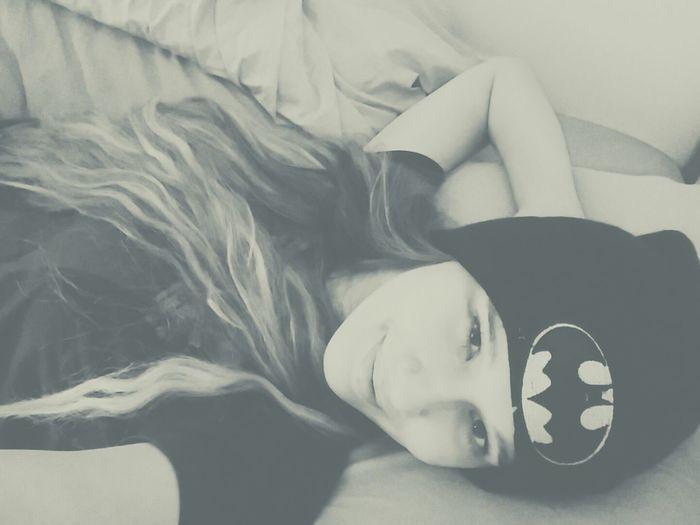 Batmangirl Happy Hello Black