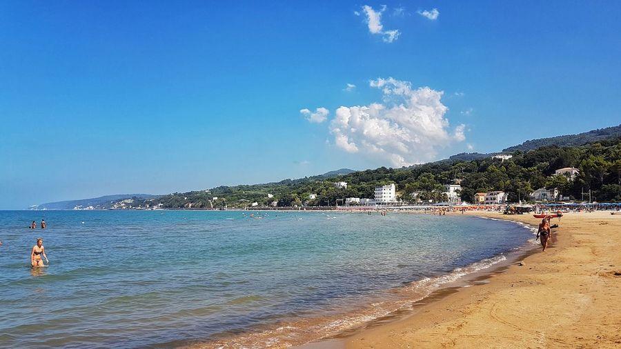 Beach Sand Sea Sky Vacations Water Outdoors Blue Summer Beauty In Nature Rodigarganicoitaly Puglia
