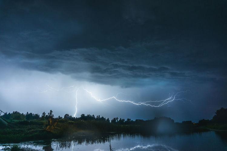 Light Railing Storm Weather Beauty In Nature Cloud - Sky Dramatic Sky Electricity  Forked Lightning Lake Lightning Nature Night No People Outdoors Power Power In Nature Sky Storm Storm Cloud Thunderstorm Water First Eyeem Photo