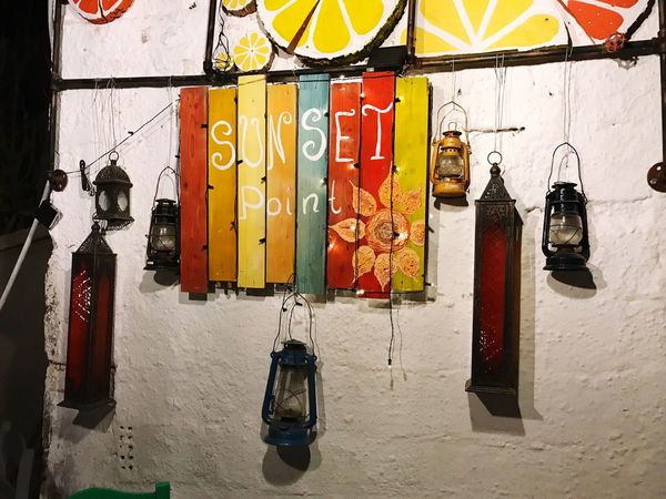 Tafel Schild Schwemmholz Schwemmgut Tavern  Taverna Taverne Zia  Greece Kos Kaffee Kaffe Kaffeehaus Kaffeepause Hanging No People Indoors  Day Coathanger Colors Colorful