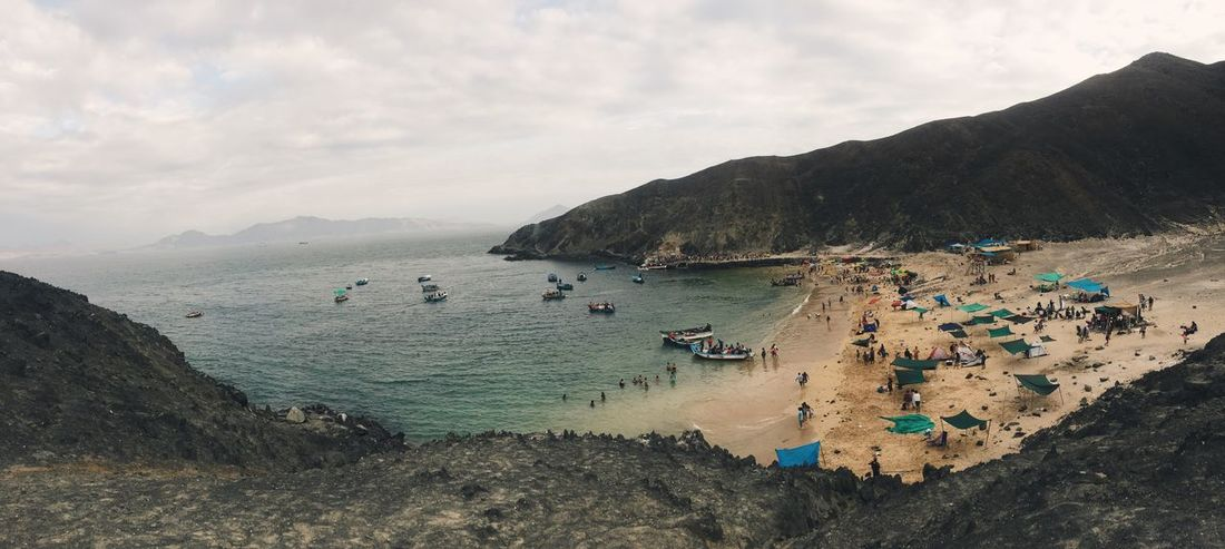 Chimbote Caleta Peru IPhoneography Panoramic Photography Panoramic Beachphotography Beach Chimbote Beauty In Nature Beach Day Tranquility Vacations Tranquil Scene