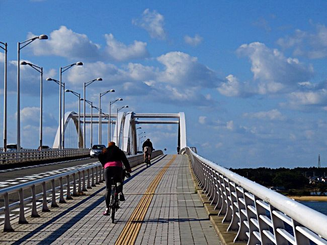 Cycling Cycling Around Bridge OnTheBridge Sea Sky Holiday
