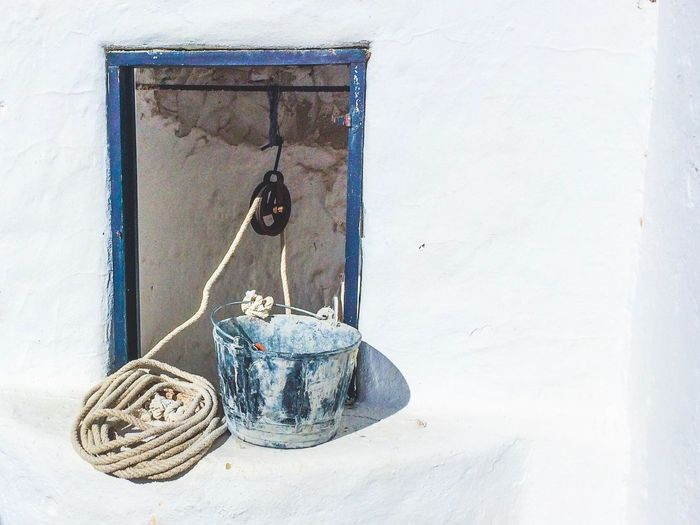 Rope And Bucket On Water Well