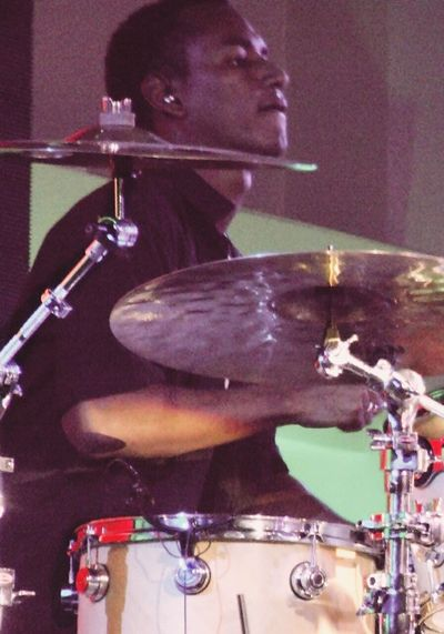 Playing drum live in Venezuela