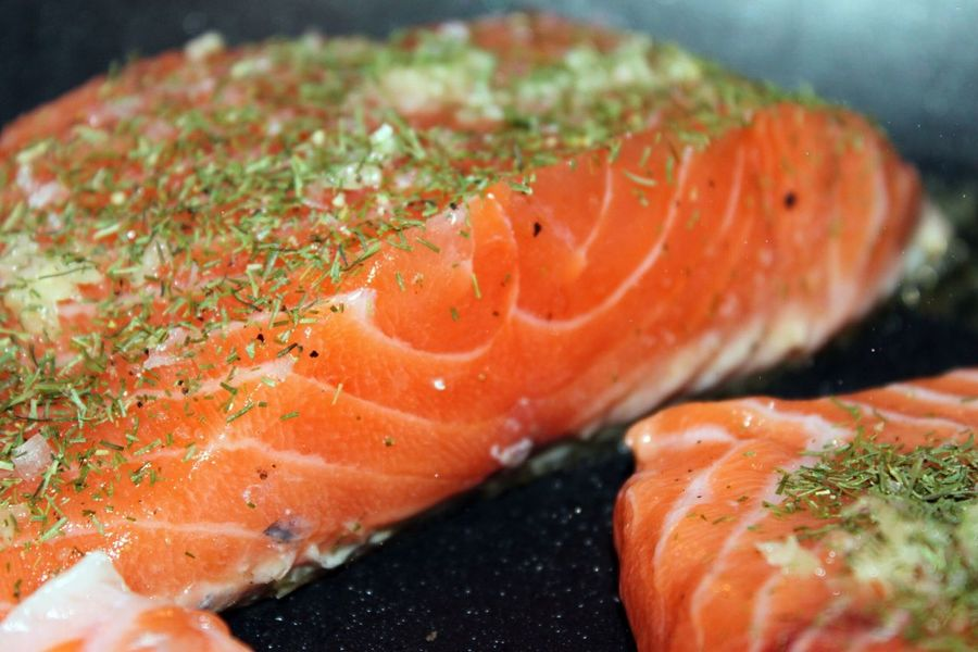 Salmon Steak  Frying Fish Frying Fresh Produce Home Cooking Cooking At Home Cooking On Gas