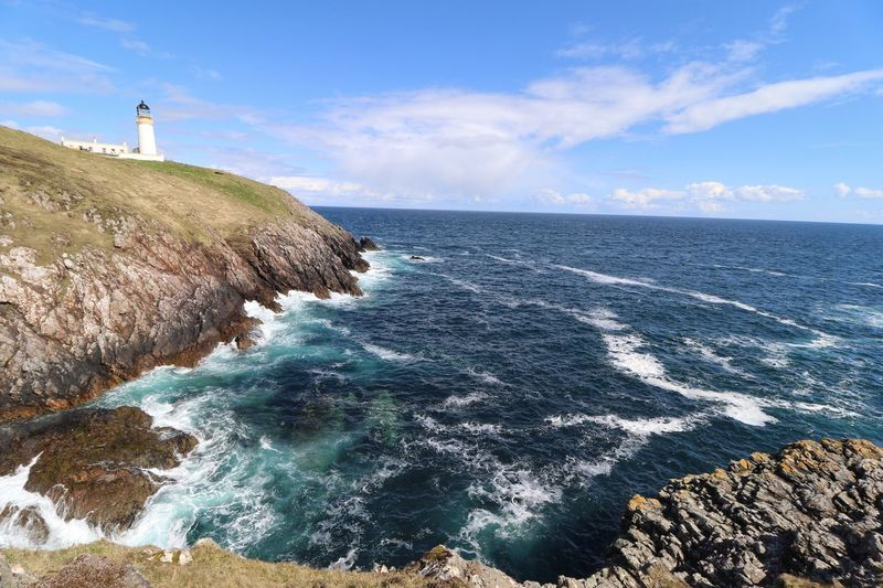 Tiumpan Head Lighthouse Seascape VisitScotland Isle Of Lewis Clouds And Sky Lighthouse Sea Water Sky Scenics - Nature Beauty In Nature Horizon Over Water My Best Photo Horizon Tranquil Scene Tranquility Cloud - Sky Land Day Beach Blue Nature Idyllic Non-urban Scene Rock No People My Best Photo