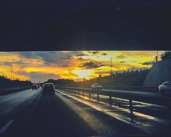 On the road... Sunset Car Point Of View Travel Travel Photography