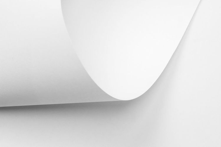 Indoors  White Color No People Copy Space Wall - Building Feature Studio Shot Paper Architecture Close-up Built Structure Ceiling White Background Shape White Modern Geometric Shape Wall Lighting Equipment Simplicity Single Object Light Fixture Electric Lamp